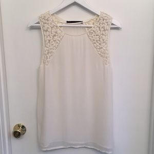 Zara sheer cream tank.